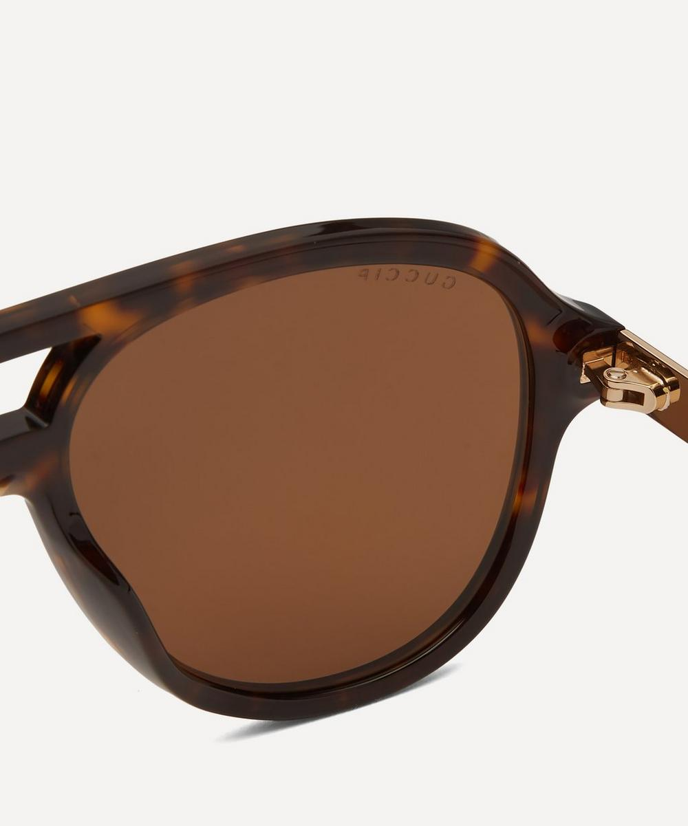 Aviator Acetate and Metal Sunglasses