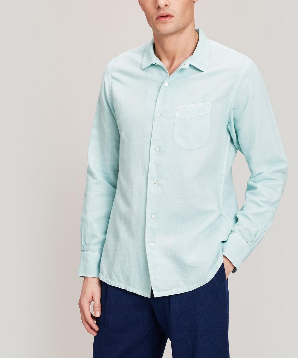 Gaspard Cotton and Linen-Blend Shirt