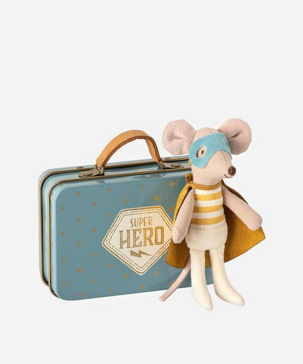 Maileg - Superhero Mouse Toy in Suitcase