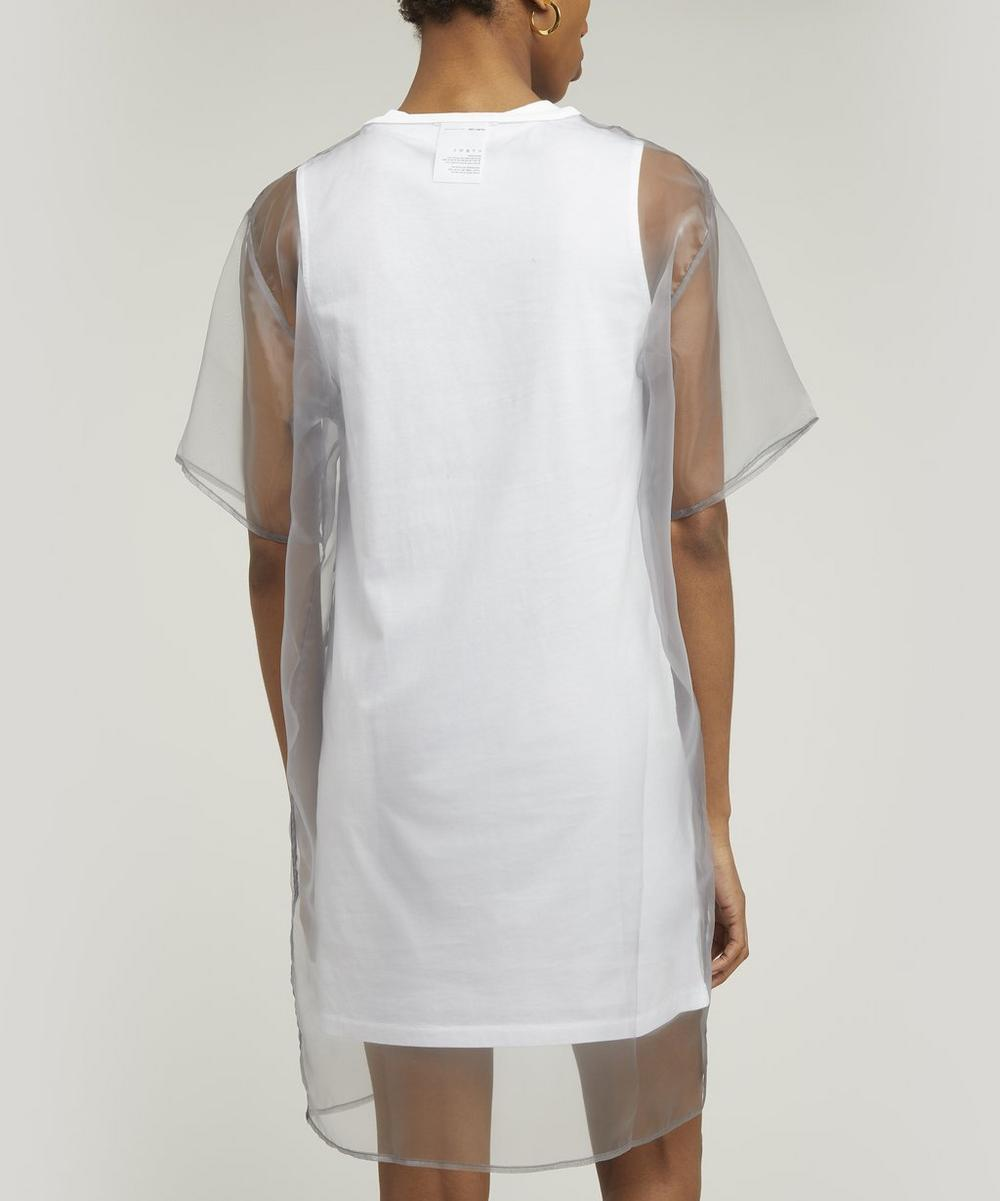 Sheer Overlay T-Shirt Dress