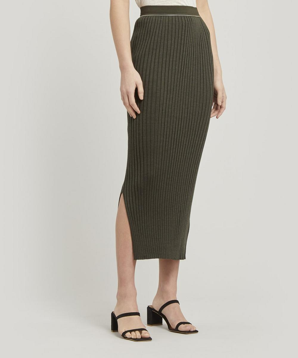 Layered Zip Midi-Skirt