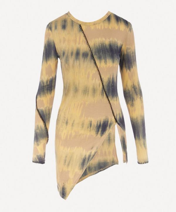 Tie-Dye Asymmetric T-Shirt