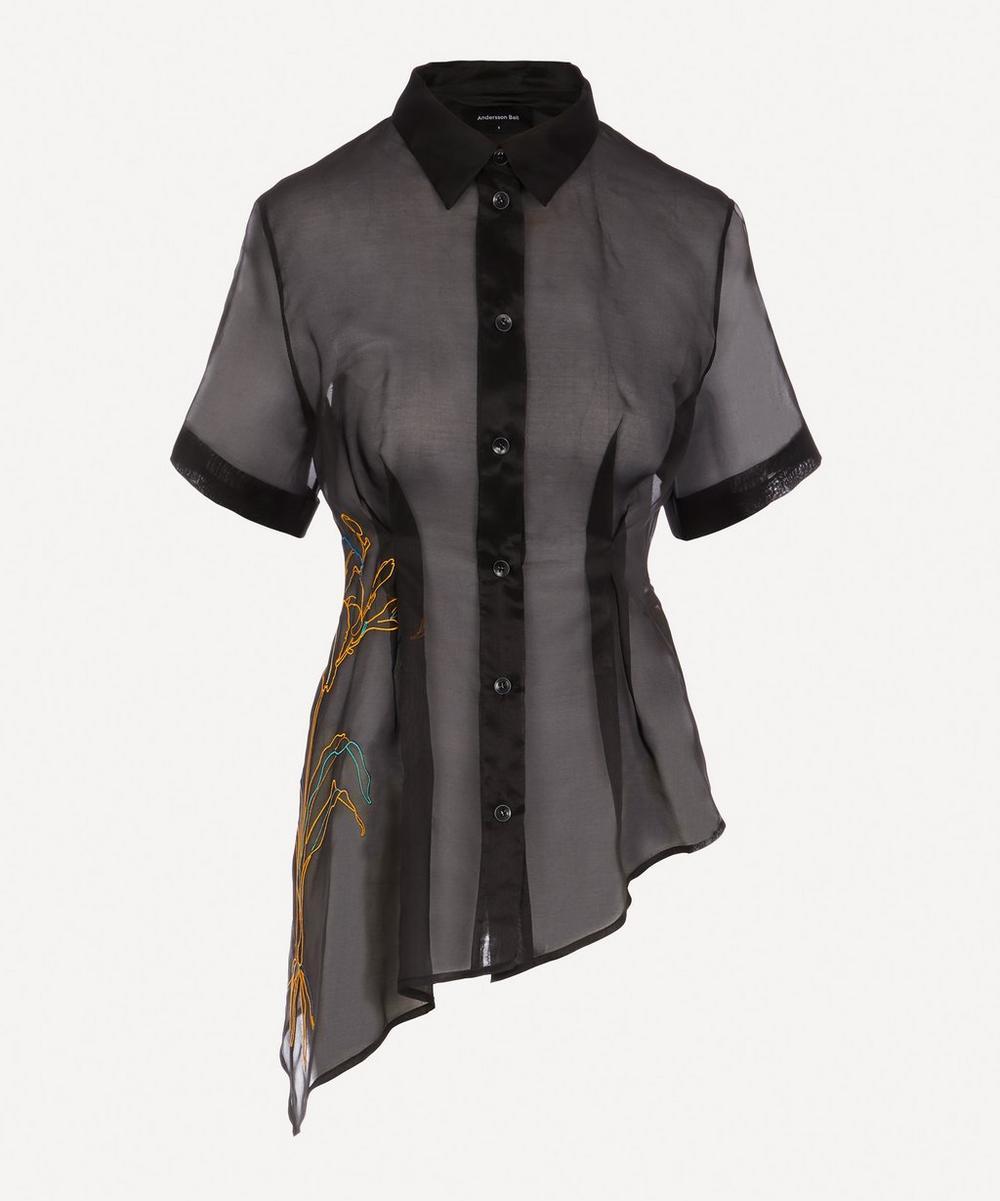 Embroidered Organza Shirt