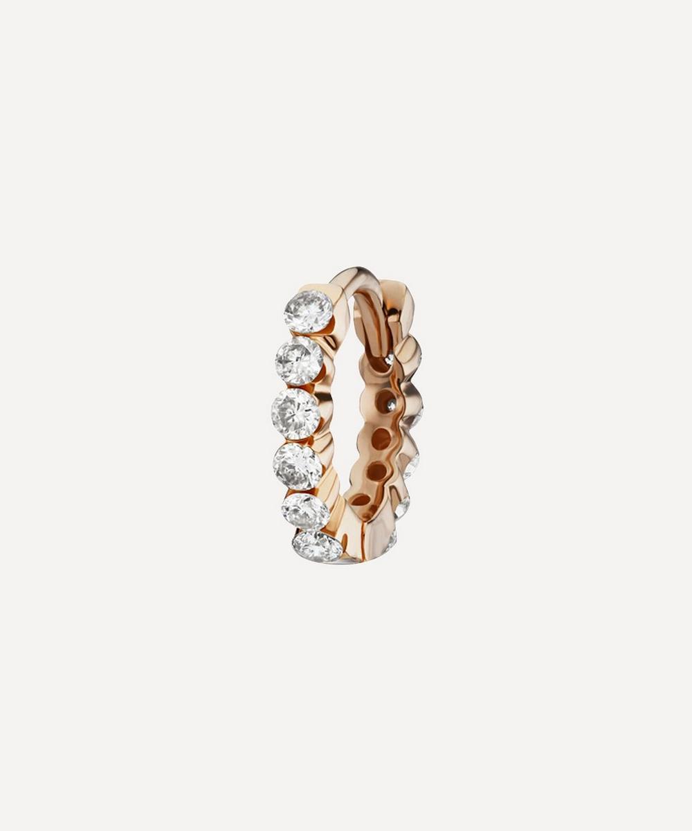 Maria Tash 6.5MM DIAMOND INVISIBLE SET ETERNITY HOOP EARRING