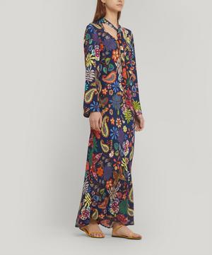 Charlotte Tie-Neck Midi-Dress