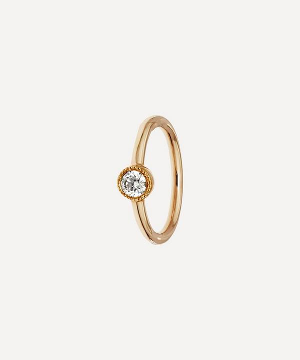 Maria Tash - 8mm Scalloped Diamond Hoop Earring
