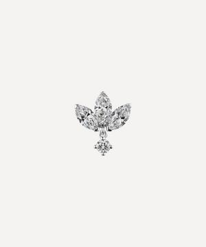 6mm Diamond Engraved Lotus with Dangle Threaded Stud Earring