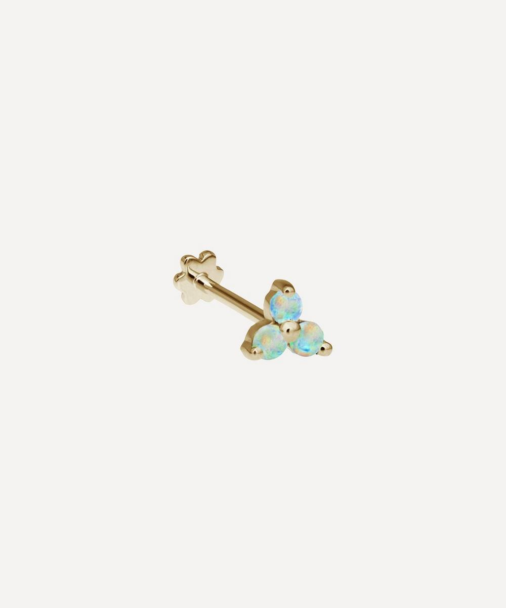 Opal Trinity Threaded Stud Earring