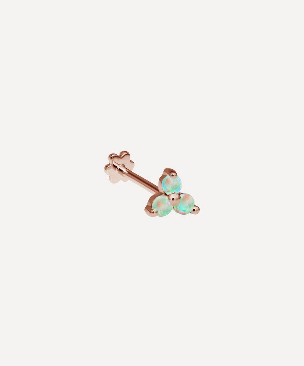 Opal Trinity Threaded Stud Earring