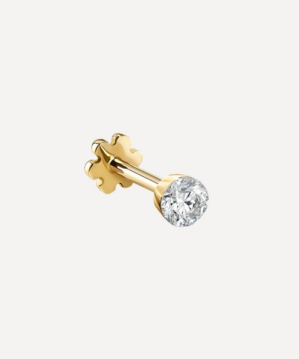 Maria Tash - 18ct 2.5mm Invisible Set Diamond Single Threaded Stud Earring