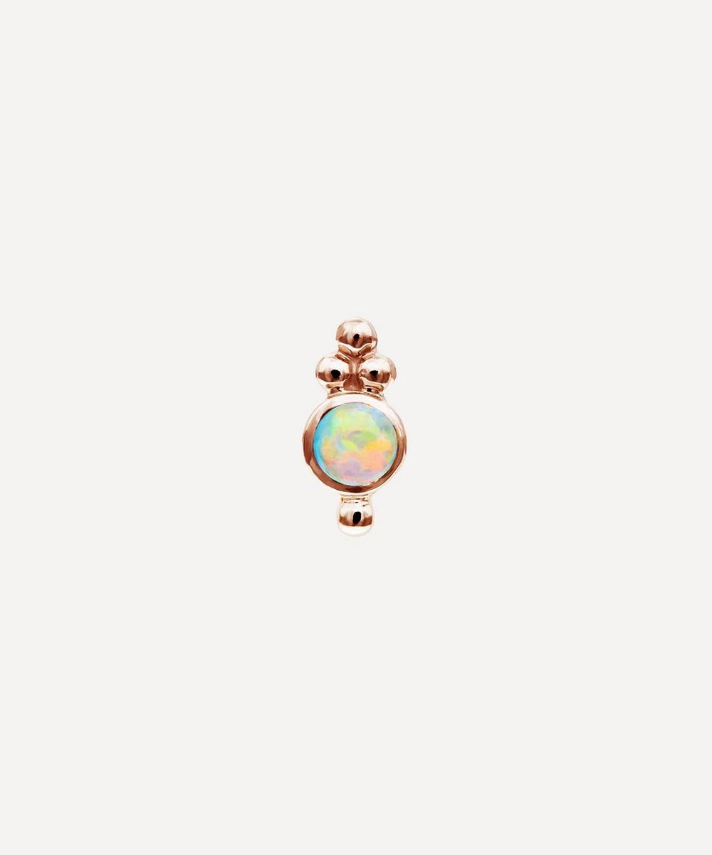 Maria Tash - 14ct Opal Four Ball Trinity Single Threaded Stud Earring