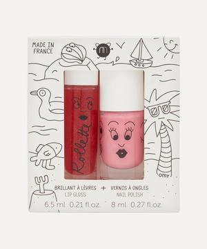 Holidays Rollette Lip Gloss and Nail Varnish Set