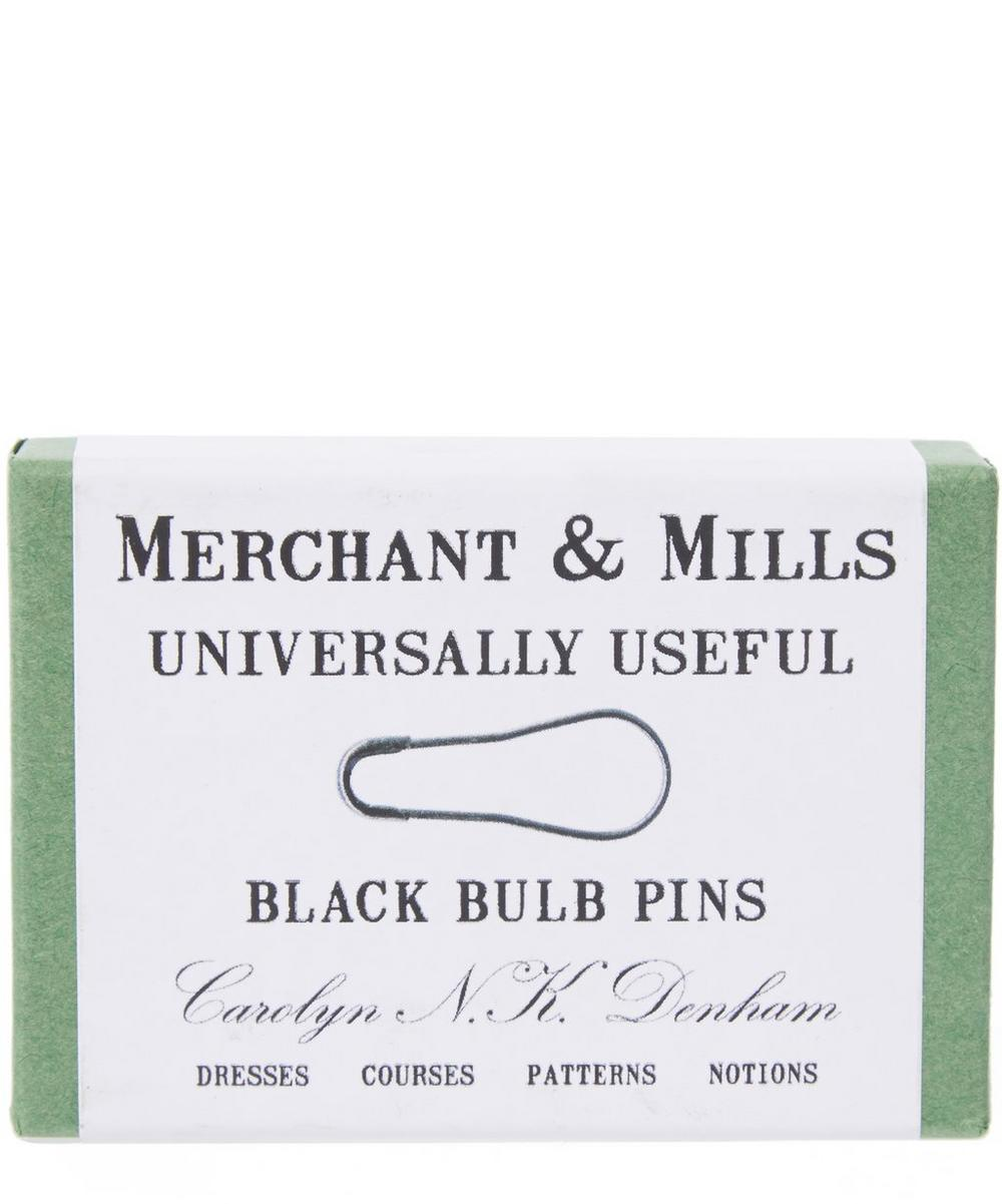 Black Bulb Safety Pins