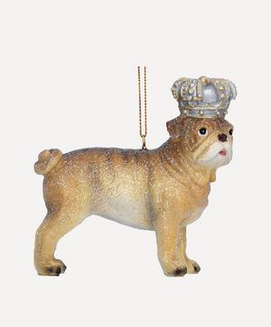 Crowned Bulldog Decoration