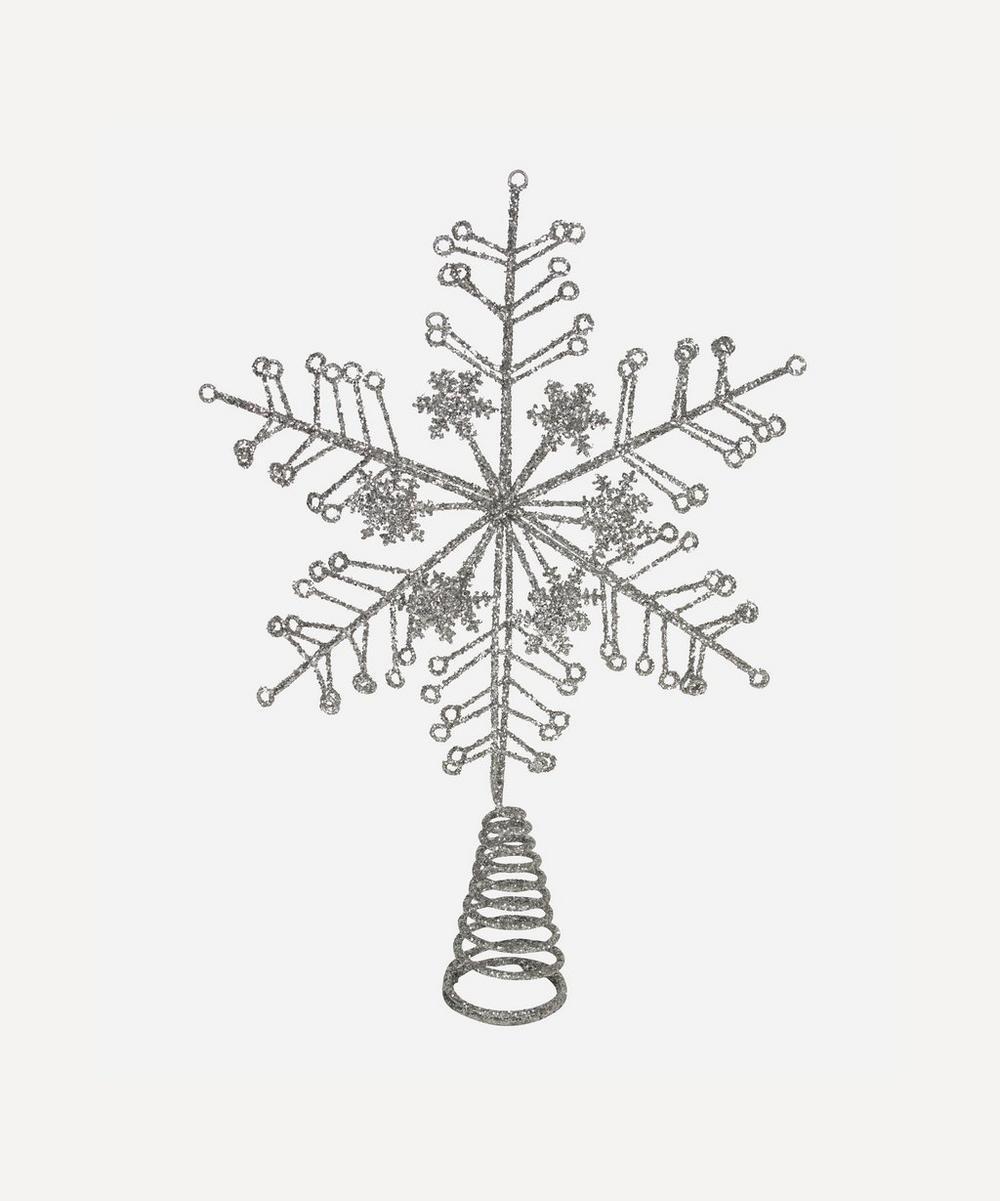 Unspecified - Silver-Tone Glitter Tree Topper