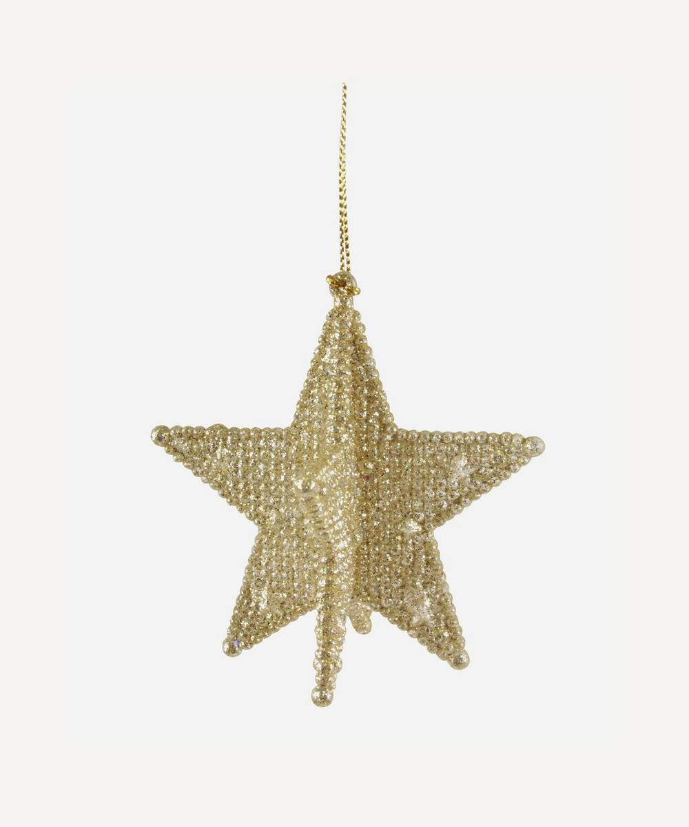 Unspecified - Gold Point Star Decoration