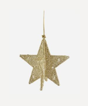 Gold Point Star Decoration