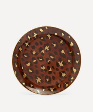 Leopard Dessert Plates Set of Four