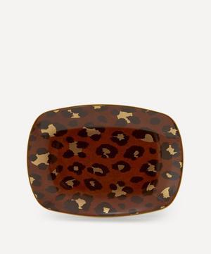 Small Leopard Rectangular Tray