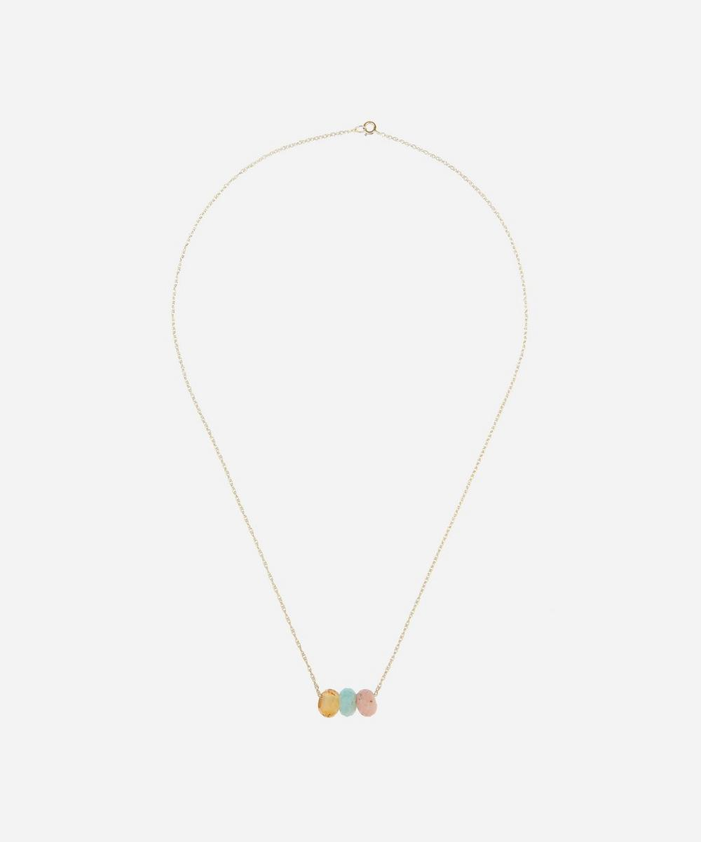 Gold The Hero's Shield Crystal Necklace