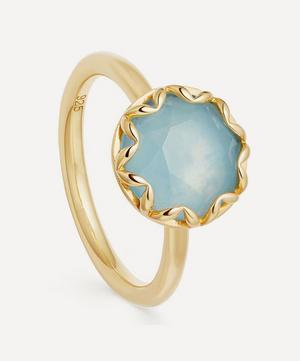 Gold Vermeil Paloma Aqua Quartz Ring