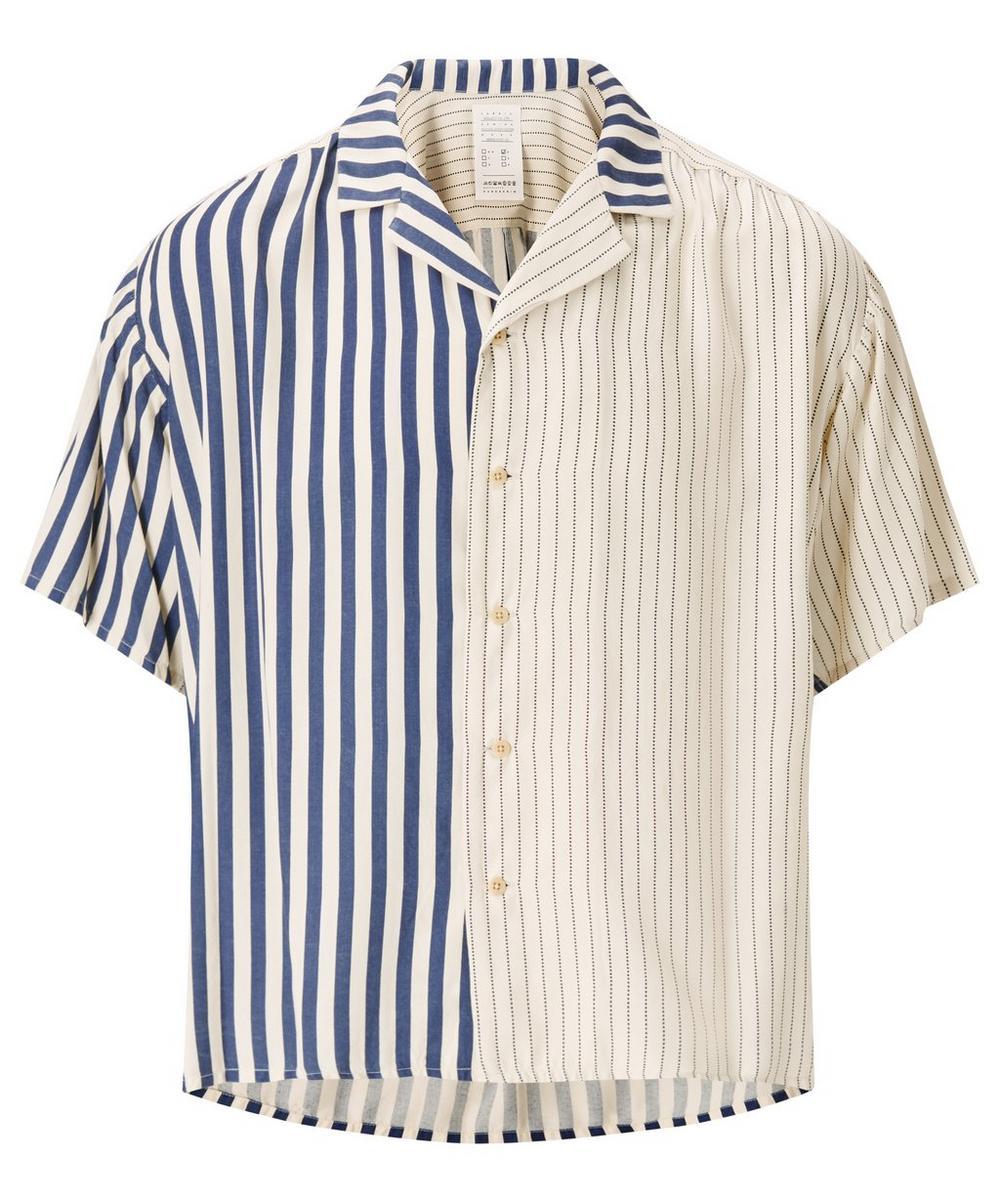 Indigo Stripe Rayon Big Shirt