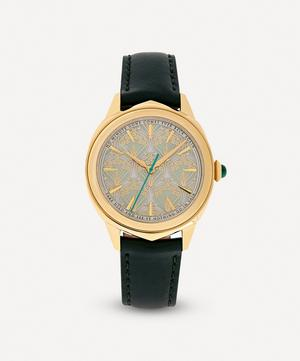 Lasenby Iphis Gold-Plated Leather Strap Watch