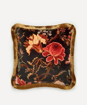 Artemis Medium Fringed Velvet Cushion
