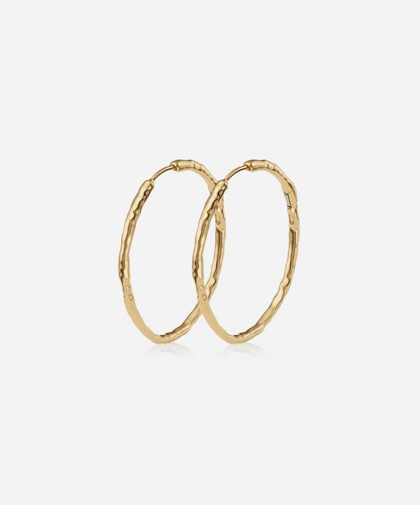 Monica Vinader - Gold Plated Vermeil Silver Siren Muse Large Hoop Earrings