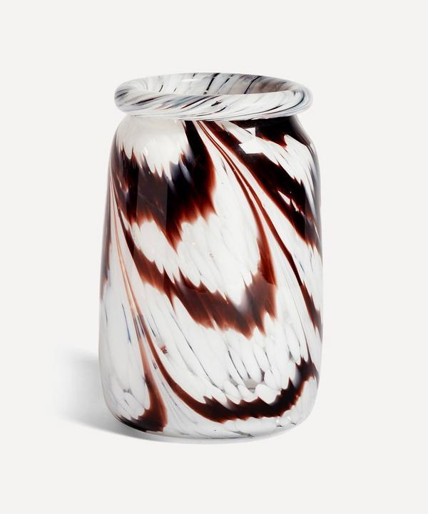 Hay - Coffee Roll Neck Glass Splash Vase