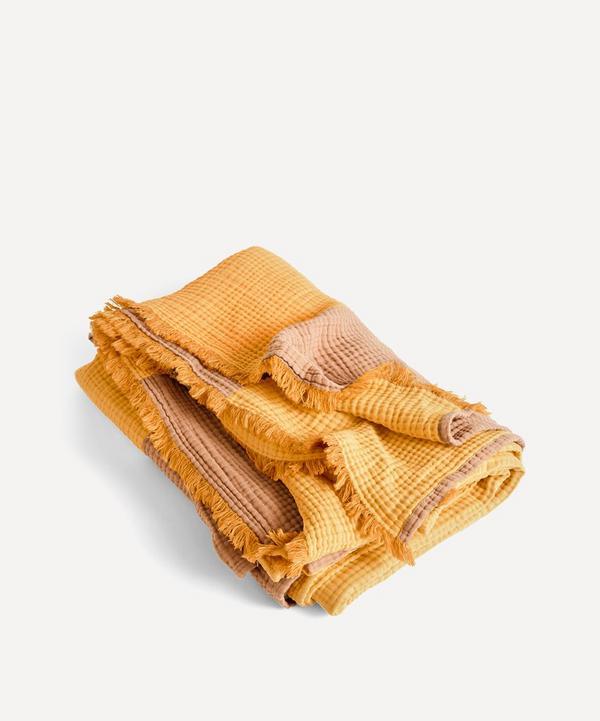 Hay - Crinkle Stripe Plaid Blanket