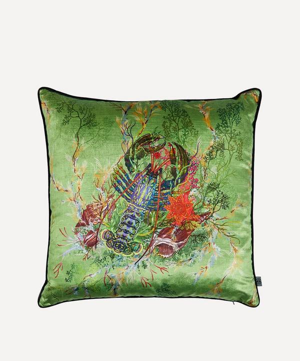 Lobster Velvet Cushion