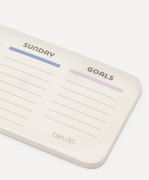 Week To Week Desk Notepad