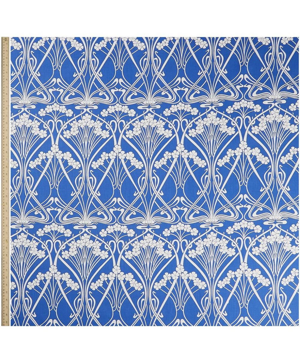 Ianthe Bloom Stencil Chiltern Linen in Lapis