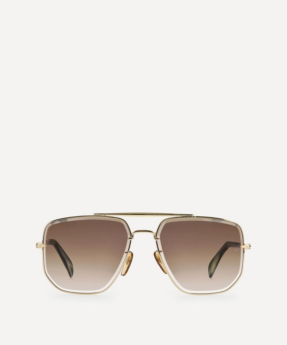 Square Aviator Metal Sunglasses