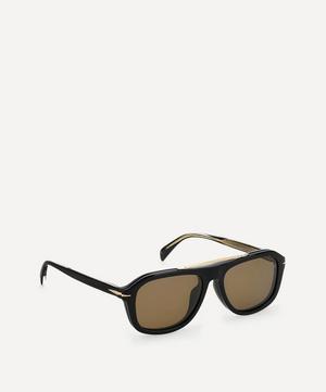 Rectangular Clip-On Acetate Sunglasses