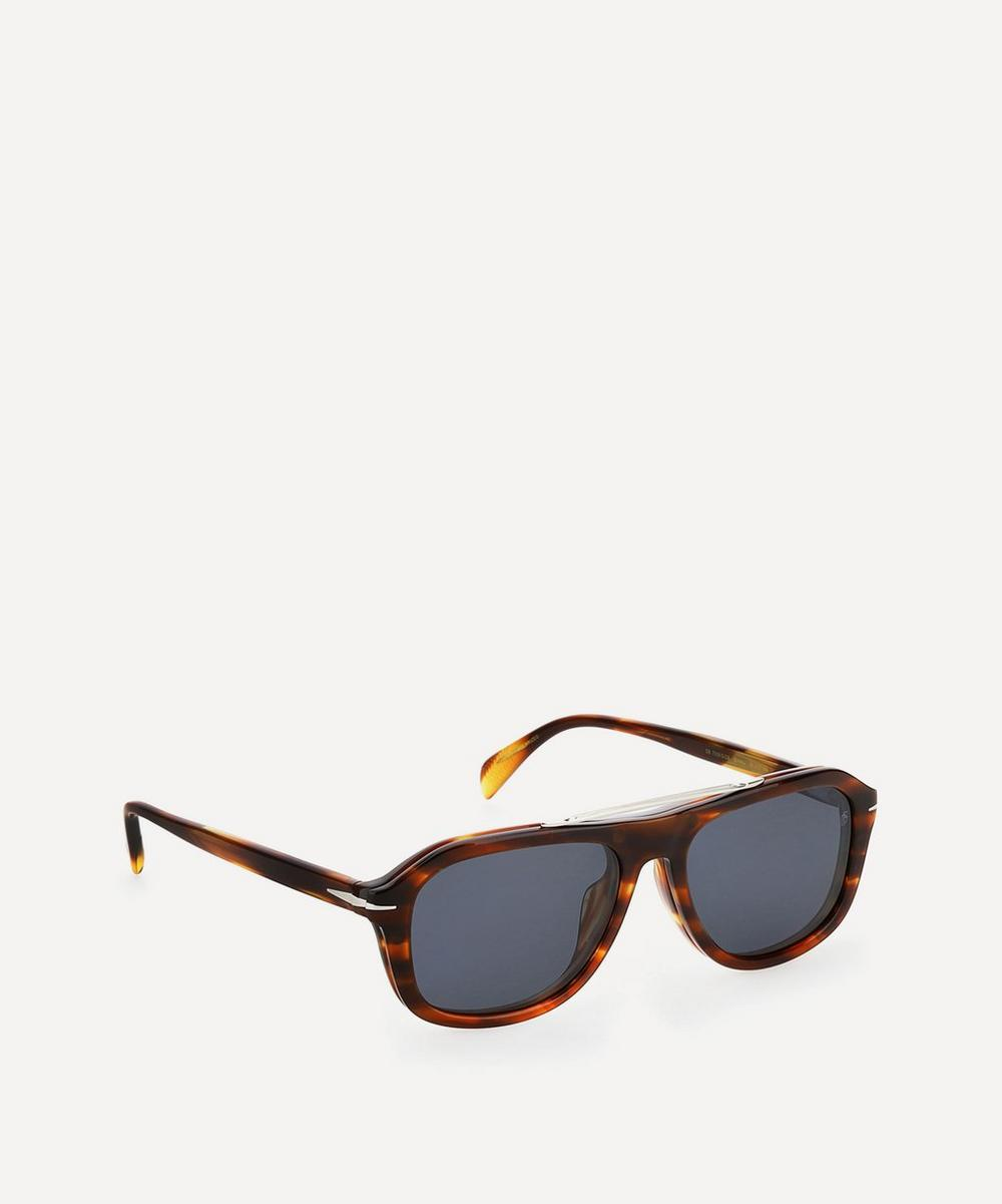 Rectangular Clip-On Acetate Sunglasses