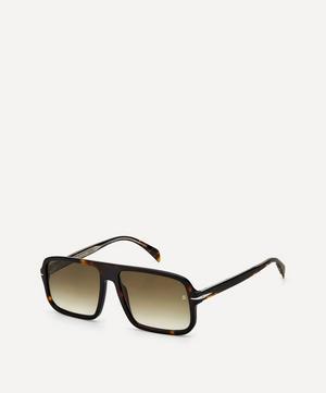 Oversized Flat-Top Acetate Sunglasses