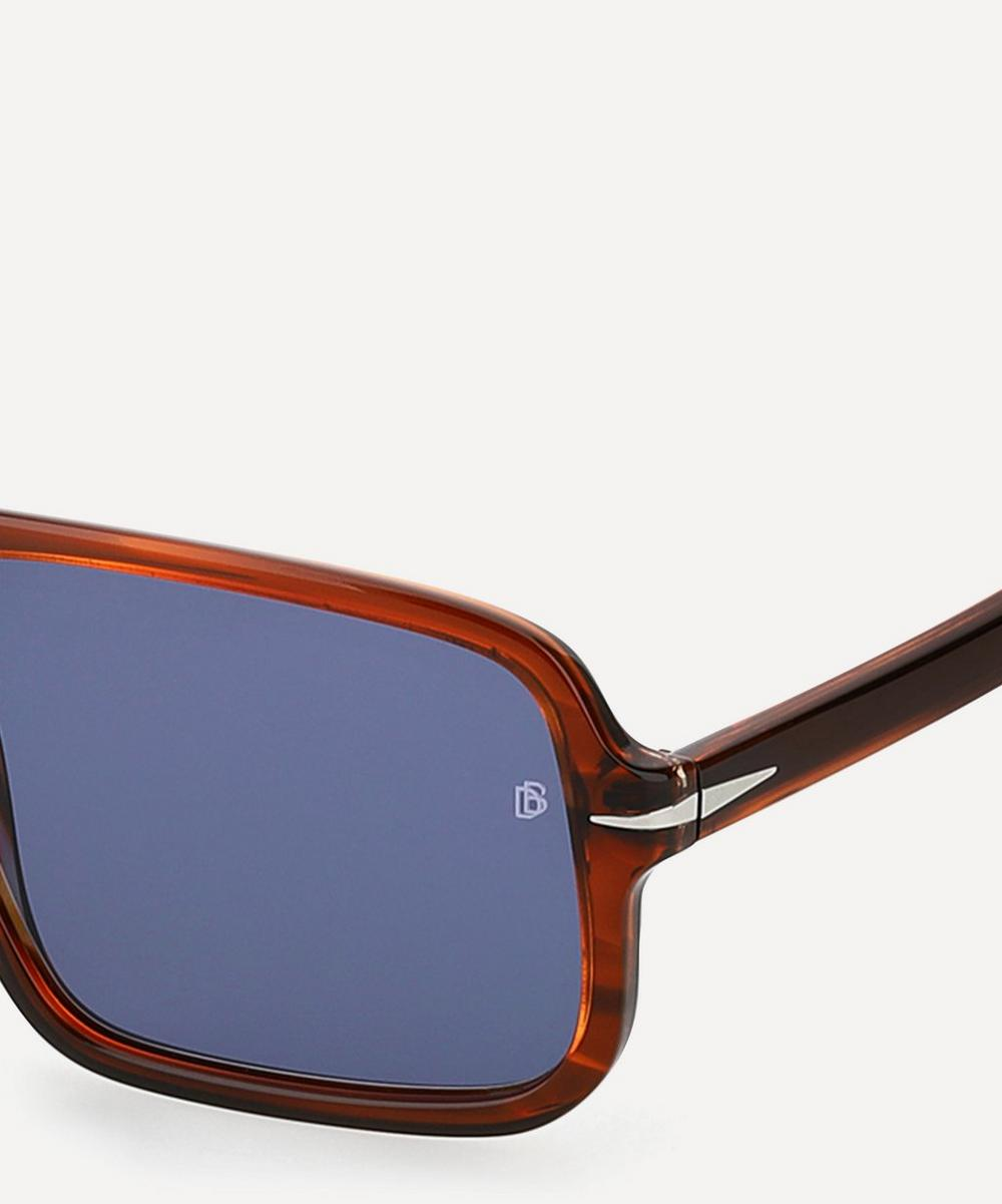 Oversized Flat-Top Acetate Sunglasses