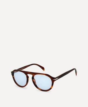 Round Flat-Top Acetate Sunglasses