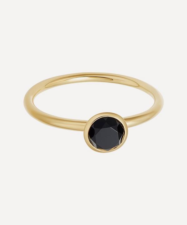 Astley Clarke - Gold Plated Vermeil Silver Mini Stilla Black Onyx Ring