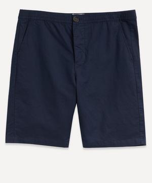 Drawstring Cotton-Linen Shorts