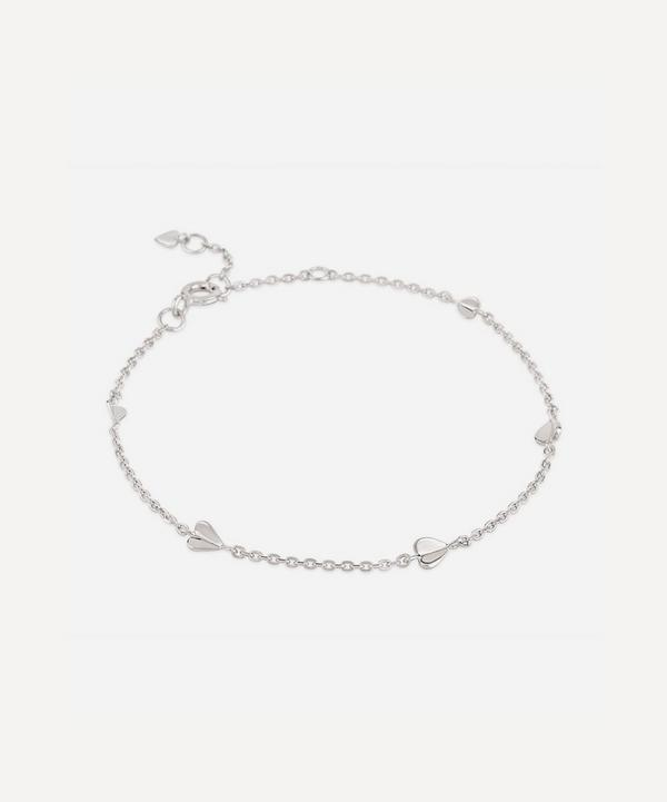 Dinny Hall - Silver Bijou Folded Heart Bracelet