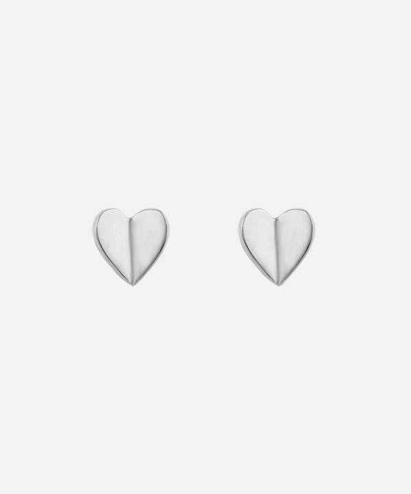 Dinny Hall - Silver Bijou Folded Heart Stud Earrings