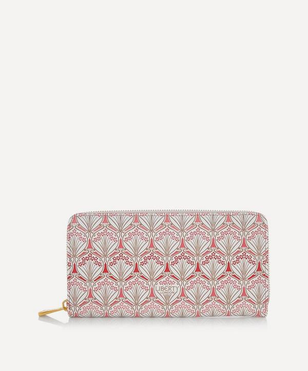 Iphis Cherry Blossom Canvas Large Zip-Around Wallet