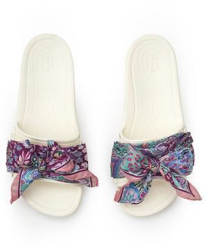 X Crocs Ianthe Slides with Silk Scarf