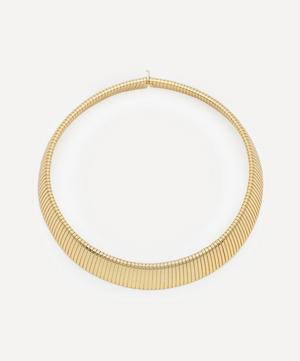 Gold-Plated Snake Collar Necklace