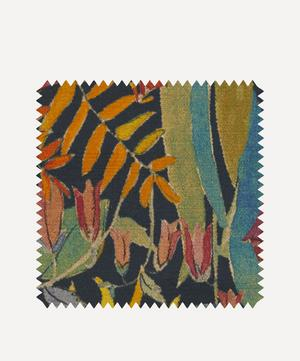 Fabric Swatch - Faria Flowers Vintage Velvet in Lichen