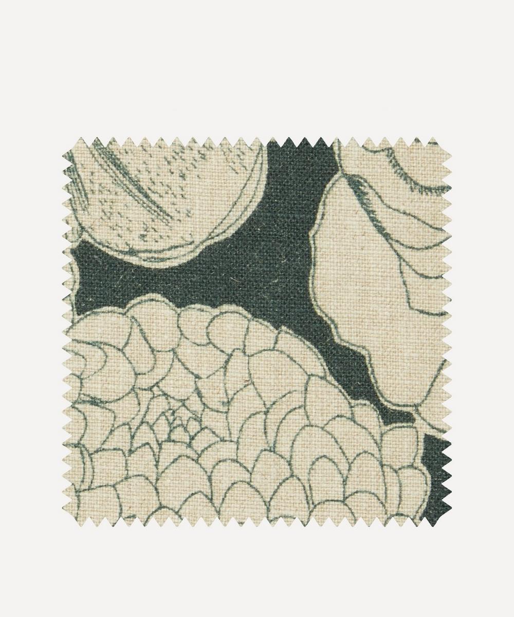 Liberty Interiors - Fabric Swatch - Zennor Arbour Ladbroke Linen in Jade