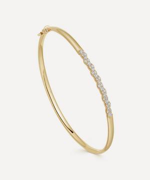 14ct Gold Interstellar Diamond Bangle